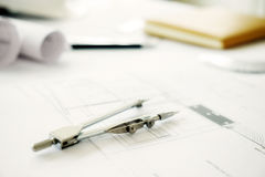 Skrivbord av teknikprojektet Arkivbilder