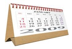 skrivbord för 2009 kalender Royaltyfri Bild