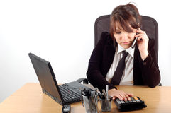 skrivbord för affärskvinna 16 Arkivfoto