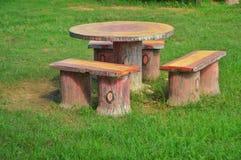 skrivbord och stol, Royaltyfri Fotografi