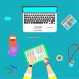 Skrivbordbuddist vektor illustrationer