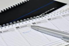 Skrivborddagbok Fotografering för Bildbyråer