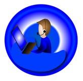 skrivbordhjälp Fotografering för Bildbyråer