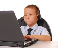 skrivbordhjälp för 18 pojke royaltyfri bild