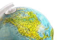 Skrivbordjordklot som fokuserar på Nordamerika arkivbilder
