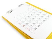 Skrivbordkalender med dagar och data i Juli 2016 och tomma linjer för anmärkningar Arkivbild