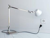 skrivbordlampstickkontakt Fotografering för Bildbyråer