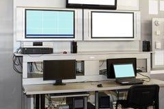 skrivbordsäkerhetsbevakning Arkivfoto