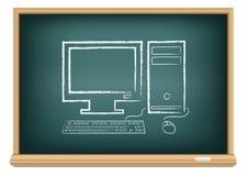 Skrivbords- dator för bräde stock illustrationer
