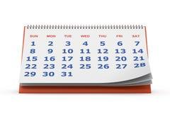 Skrivbords- kalender stock illustrationer
