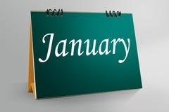 Skrivbords- kalenderdesign 2017 Arkivfoton