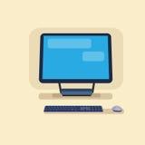 Skrivbords- Logo Modern Computer Workstation Icon stock illustrationer
