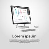Skrivbords- modern grafisk formgivare Workplace för dator royaltyfri illustrationer