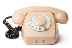 Skrivbords- roterande telefon för tappning Royaltyfri Fotografi