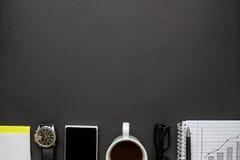 Skrivbords- sikt för kontor Arkivfoto
