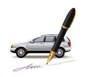 Skrivbordsarbete för bil Arkivbilder