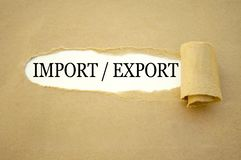 Skrivbordsarbete med importen och exporten royaltyfri fotografi