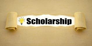 Skrivbordsarbete och svart tavla med stipendium royaltyfria bilder