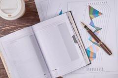 Skrivbordsarbetebegrepp, bästa sikt Fotografering för Bildbyråer