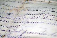 skriven handtext Arkivfoto