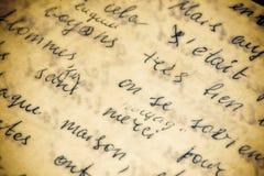 skriven handtextur Fotografering för Bildbyråer