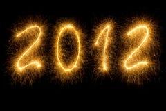 skriven sparkling för 2012 bokstäver royaltyfria foton