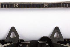 skrivmaskin för blankt papper Fotografering för Bildbyråer