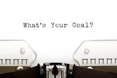 Skrivmaskin vad är ditt mål Royaltyfri Foto