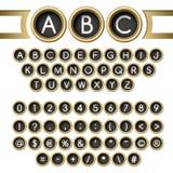 Skrivmaskinen knäppas alfabet Royaltyfri Fotografi
