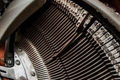 Skrivmaskinshebrétypebars Arkivbild