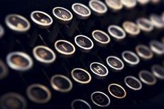 Skrivmaskinstangentbord royaltyfri bild