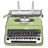skrivmaskinstappning royaltyfri illustrationer