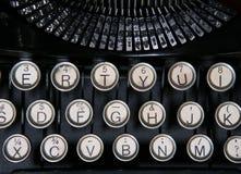 skrivmaskinstappning Arkivbild