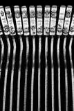 Skrivmaskinstypebars Arkivbilder