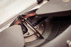 Skrivmaskinstyper älskar jag dig Fotografering för Bildbyråer