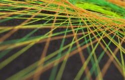 Skärm av färgrika trådar Royaltyfri Fotografi
