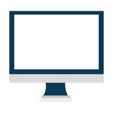 Skärm för elektronisk apparat, vektordiagram Arkivfoton