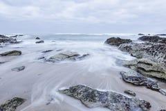 Skroniowy na plaży Fotografia Royalty Free