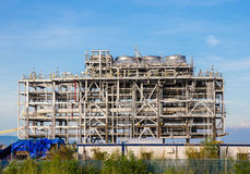 Skroplony gaz naturalny rafinerii fabryka Fotografia Royalty Free