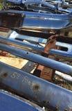 Skrot mycket av gamla Rusty American Car Parts arkivbild