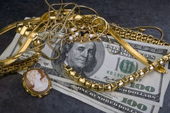 Skrota guld-. Royaltyfri Bild