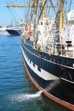 Skrov av en segelbåt royaltyfri fotografi