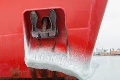 Skrov för is för ankare för skepp för diverse objektvinter djupfryst royaltyfri fotografi