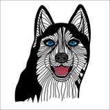 Skrovliga head vektordiagram för hund Arkivfoton