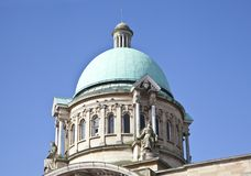 Skrovstad Hall Roof Dome royaltyfria bilder