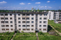 Skrunda in Latvia. Residential buildings in abandoned former Soviet military town Skrunda in Latvia Royalty Free Stock Image