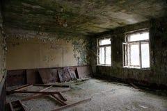Skrunda-1 un pueblo fantasma soviético en los bosques de Letonia fotografía de archivo libre de regalías