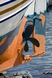 Skruv av fartyget skeppet på att förtöja Royaltyfri Foto