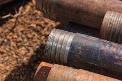 Skruv för drillborrrör royaltyfri fotografi