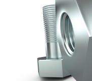Skruv och bult, 3D Royaltyfria Foton
